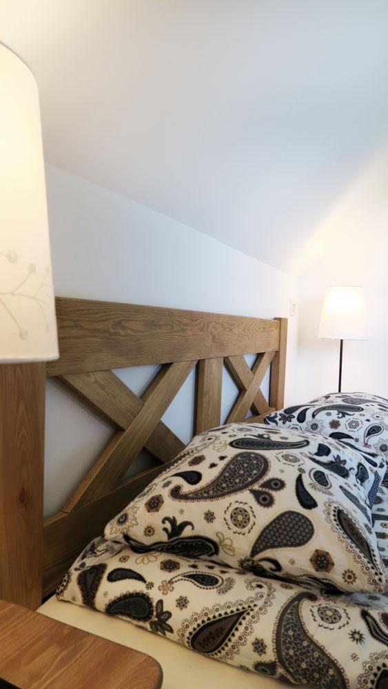 Pokoje nad Jeziorem Mazury | Apartament nr 6 sypialnia z łożem małżeńskim. Dom nad Zatoką