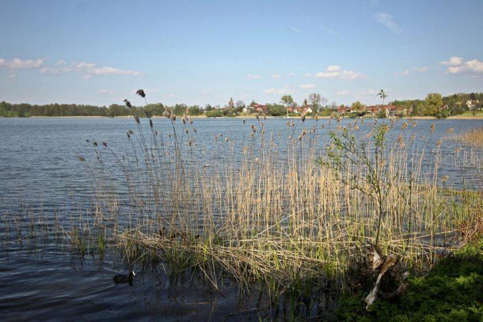 Pokoje nad Jeziorem Mazury   Jezioro widok w stronę wsi Zełwągi. Dom nad Zatoką